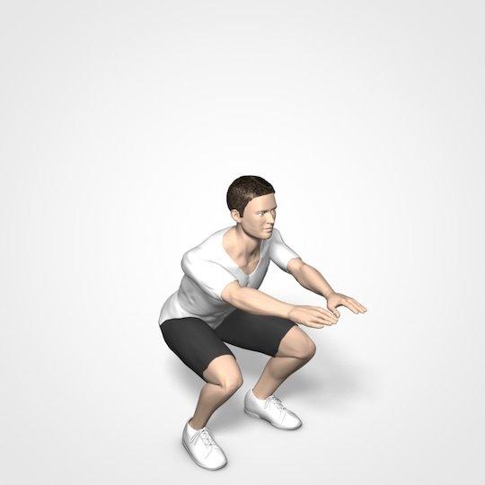 Kniebeugen mit Eigengewicht