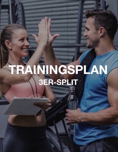 3er-Split Muskelaufbau Trainingsplan