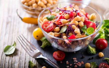 Vegane Rezepte - Kichererbsen Salat