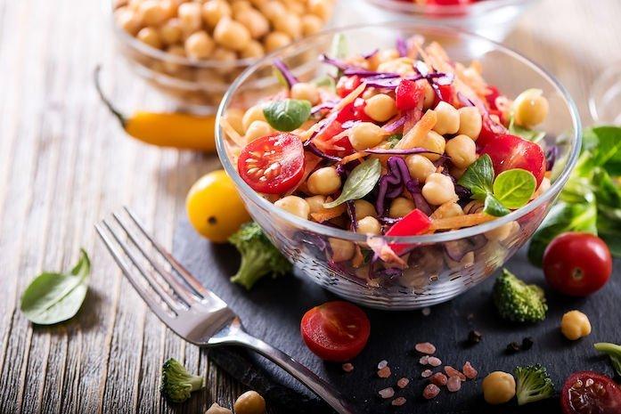 Kichererbsen Salat