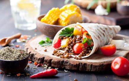 Hauptspeisen Rezepte: Veggie Wraps mit Linsen