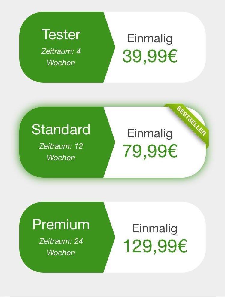 Preisübersicht