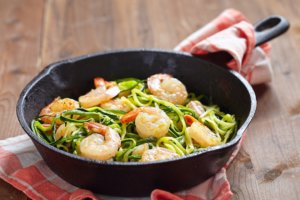 Zucchini Shrimps Spaghetti