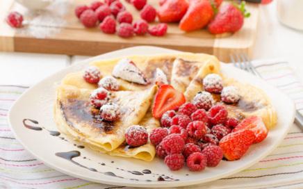 Frühstück Rezepte - Protein Crepes