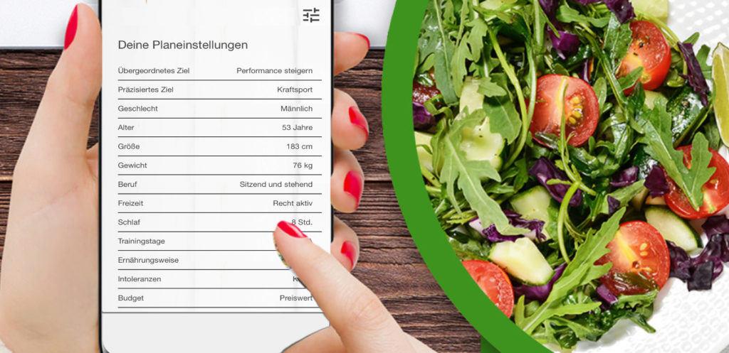 Ernährungspläne erstellen mit gesunden Rezepten
