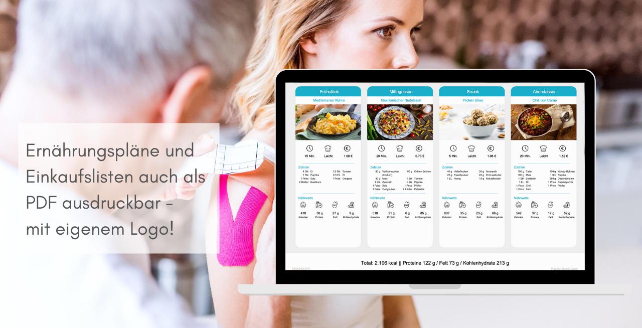 White Label App für Heilpraktiker - Ernährungspläne, Rezepte und Einkaufslisten
