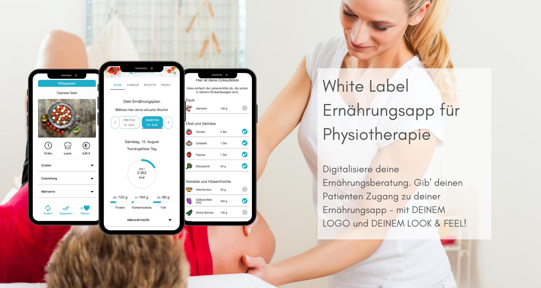 White Label App für Physiotheraphie