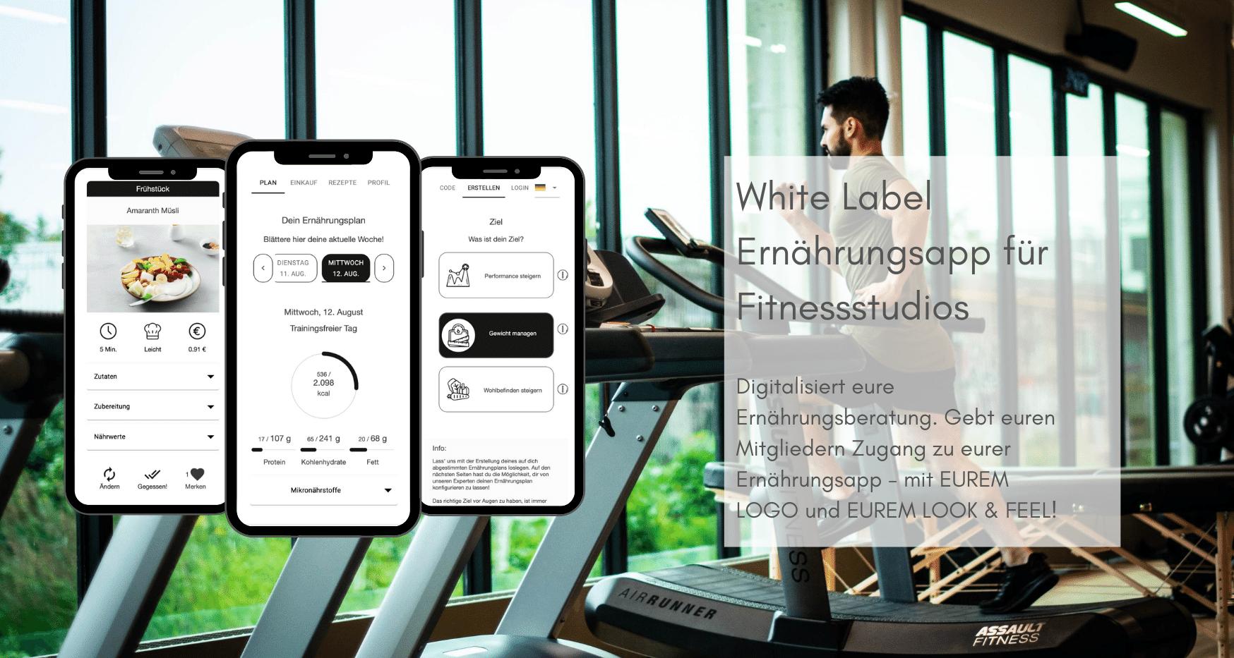 White Label App für Fitnessstudios