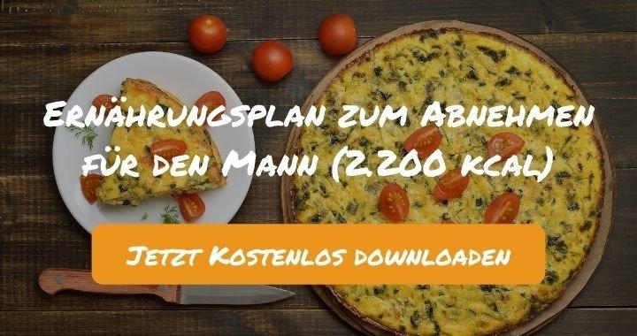 Ernährungsplan zum Abnehmen für den Mann (2.200 kcal) - Kostenlos als PDF zum Downloaden bei Natty Gains - Gesund ernähren leicht gemacht