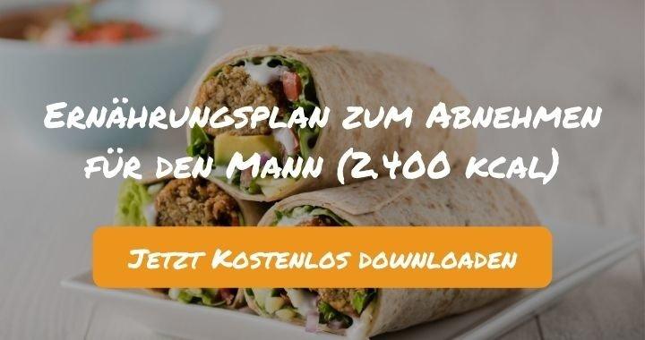 Ernährungsplan zum Abnehmen für den Mann (2.400 kcal) - Kostenlos als PDF zum Downloaden bei Natty Gains - Gesund ernähren leicht gemacht