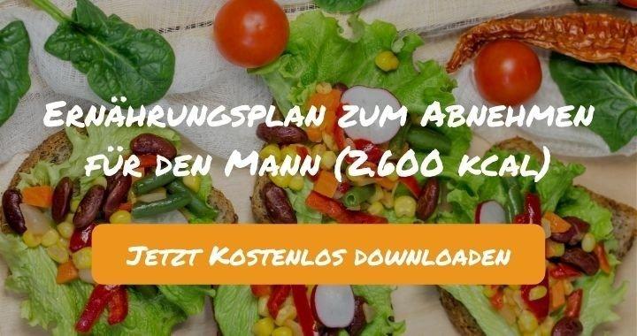 Ernährungsplan zum Abnehmen für den Mann (2.600 kcal) - Kostenlos als PDF zum Downloaden bei Natty Gains - Gesund ernähren leicht gemacht