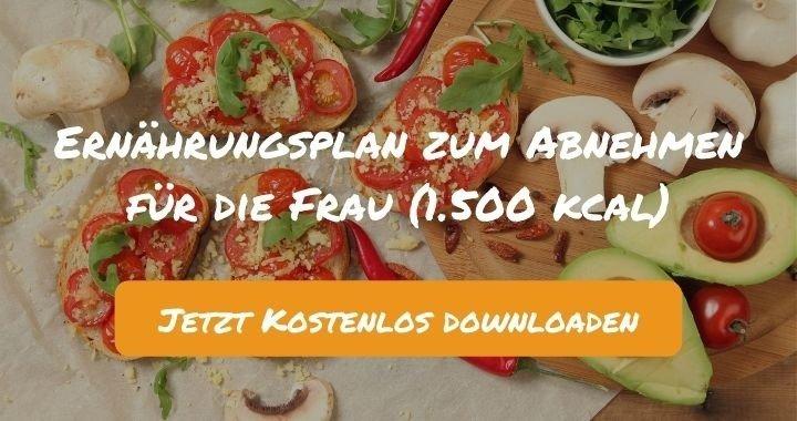 Ernährungsplan zum Abnehmen für die Frau (1.500 kcal) - Kostenlos als PDF zum Downloaden bei Natty Gains - Gesund ernähren leicht gemacht