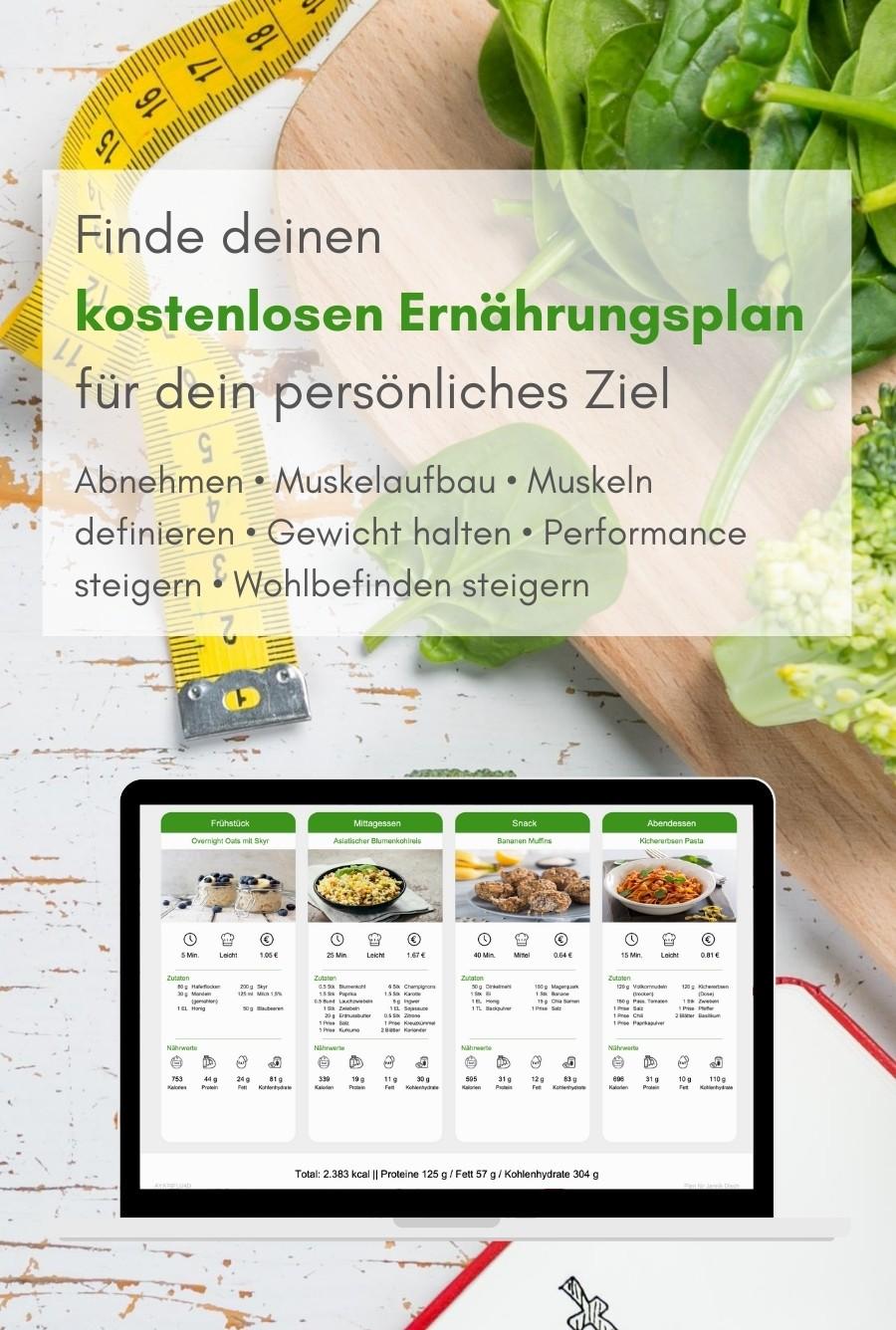 Kostenloser Ernährungsplan zum Abnehmen, für Muskelaufbau, Leistungssteigerung, Gesunde Ernährung, Vegane Ernährung, Vegetarisches Essen, Schnelles Kochen - Natty Gains (mobil)