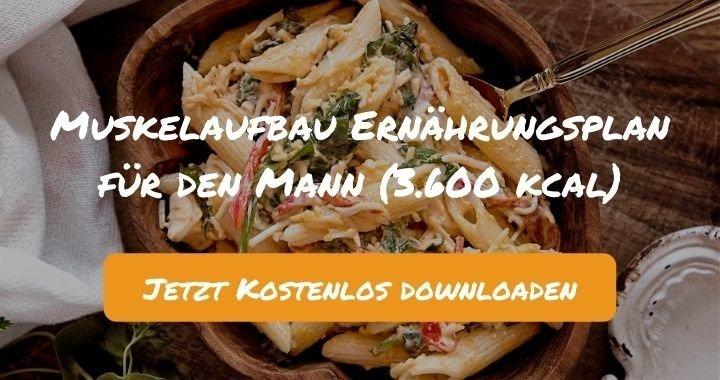 Muskelaufbau Ernährungsplan für den Mann (3.600 kcal) - Kostenlos als PDF zum Downloaden bei Natty Gains - Gesund ernähren leicht gemacht