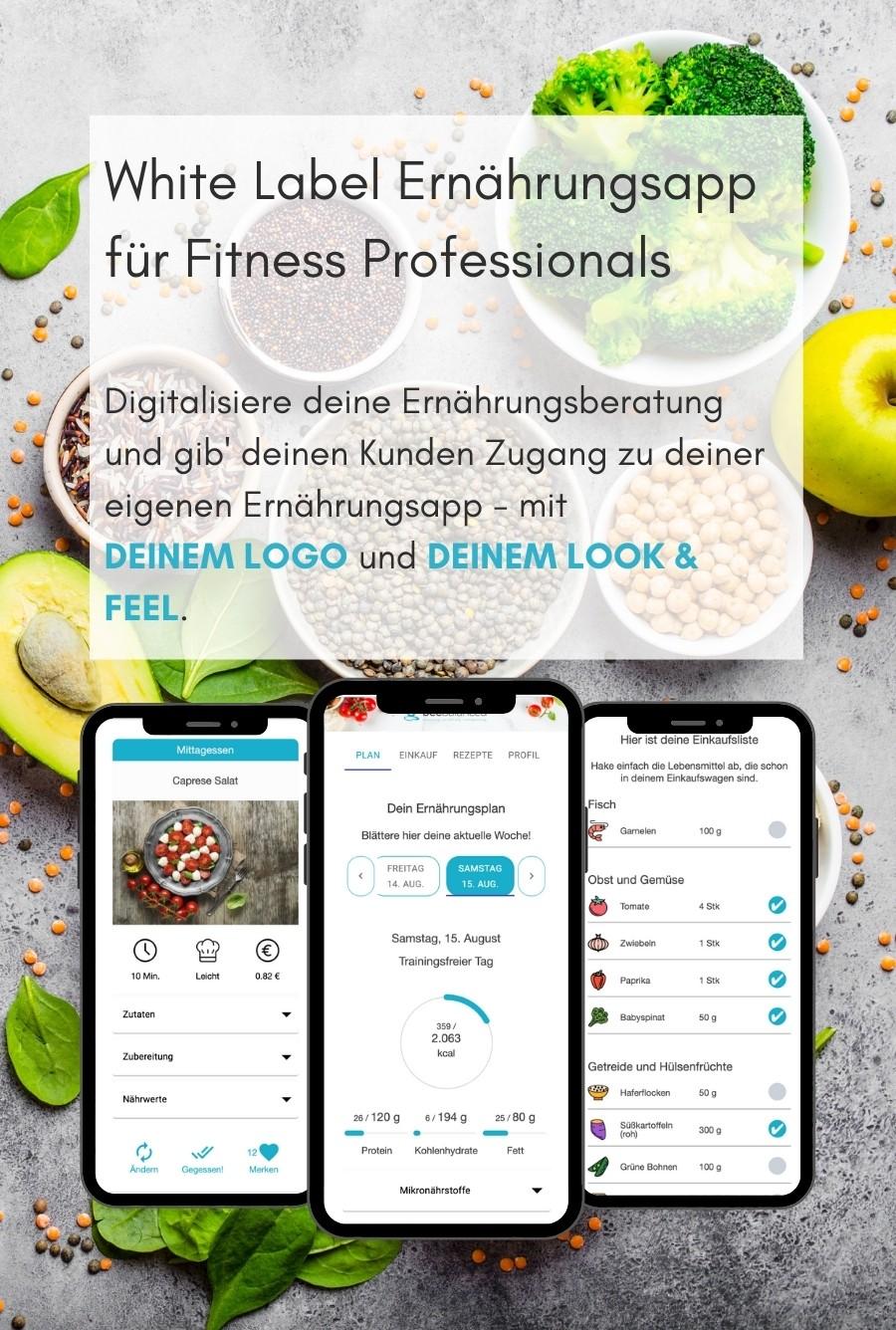 Software für Online Ernährungsberatung - White Label Ernährungsapp für Fitness Professionals wie Personal Trainer, Ernährungsberater, Fitnessstudios (1)