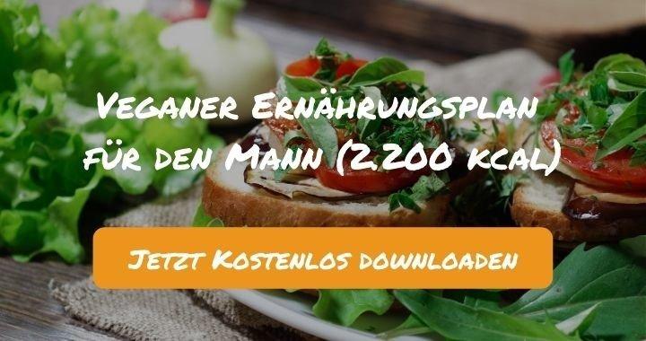 Veganer Ernährungsplan für den Mann (2.200 kcal) - Kostenlos als PDF zum Downloaden bei Natty Gains - Gesund ernähren leicht gemacht