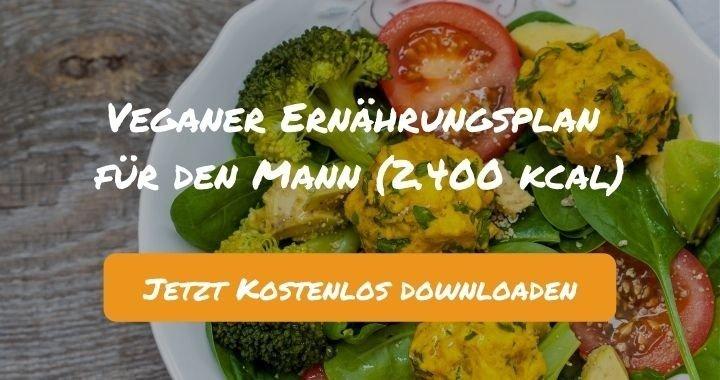 Veganer Ernährungsplan für den Mann (2.400 kcal) - Kostenlos als PDF zum Downloaden bei Natty Gains - Gesund ernähren leicht gemacht