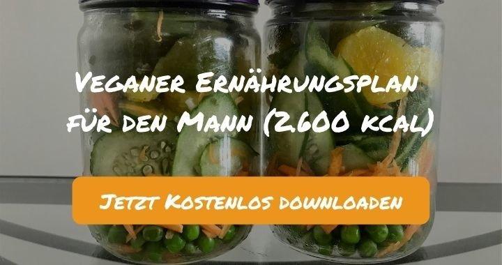 Veganer Ernährungsplan für den Mann (2.600 kcal) - Kostenlos als PDF zum Downloaden bei Natty Gains - Gesund ernähren leicht gemacht