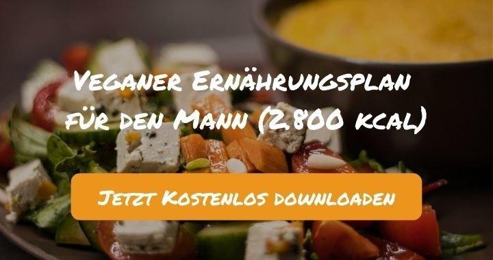 Veganer Ernährungsplan für den Mann (2.800 kcal) - Kostenlos als PDF zum Downloaden bei Natty Gains - Gesund ernähren leicht gemacht