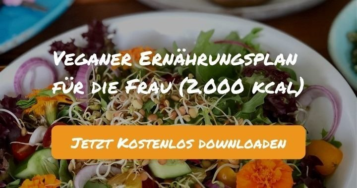 Veganer Ernährungsplan für die Frau (2.000 kcal) - Kostenlos als PDF zum Downloaden bei Natty Gains - Gesund ernähren leicht gemacht