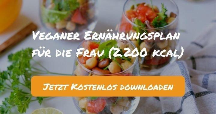 Veganer Ernährungsplan für die Frau (2.200 kcal) - Kostenlos als PDF zum Downloaden bei Natty Gains - Gesund ernähren leicht gemacht