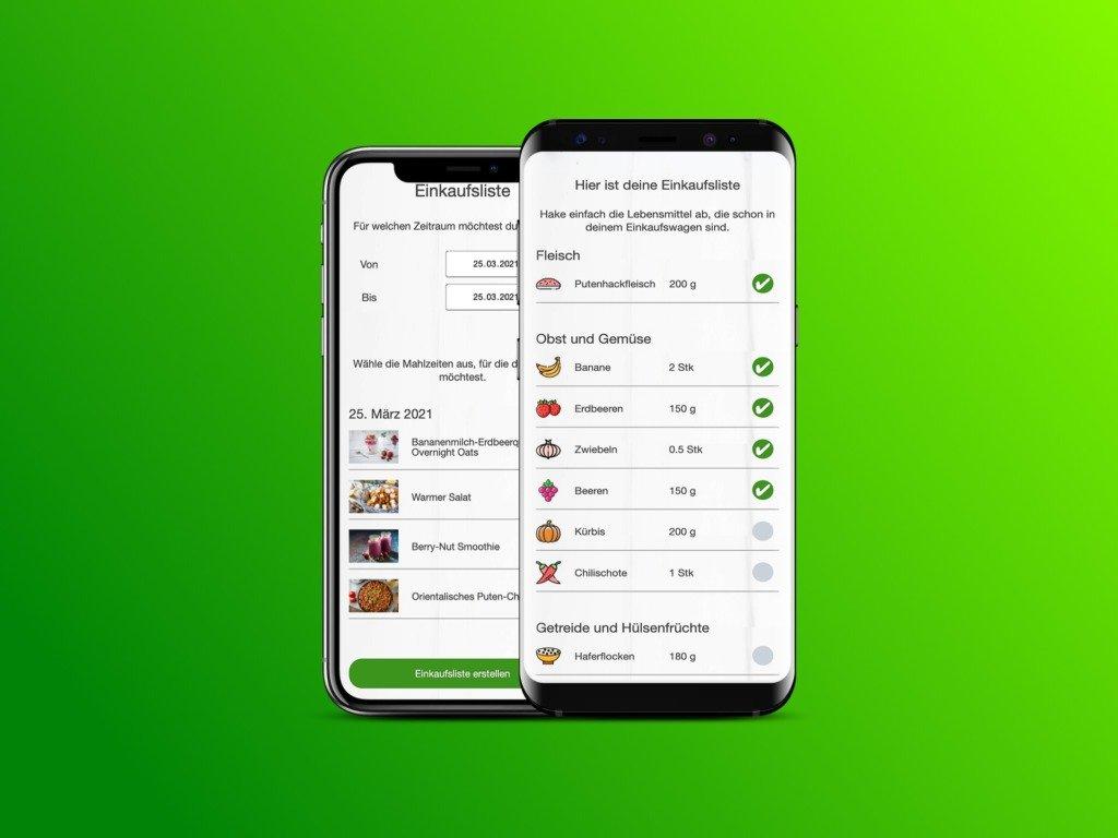 Ernährungs-Software für Personal Trainer, Ernährungsberater und Fitness Coaches - Einkaufsliste