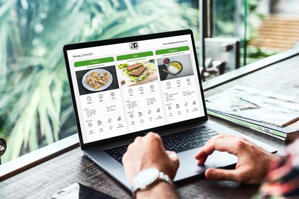 Ernährungs-Software für Personal Trainer, Ernährungsberater und Fitness Coaches - PDF zu Ernährungsplänen