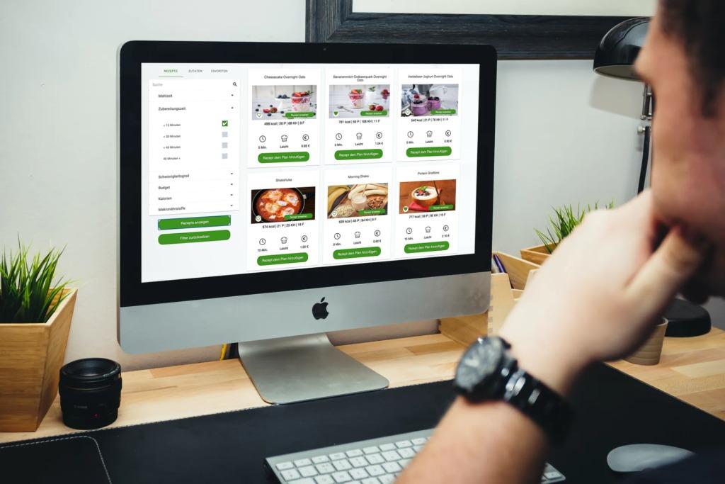 Ernährungs-Software für Personal Trainer, Ernährungsberater und Fitness Coaches - Rezeptportal