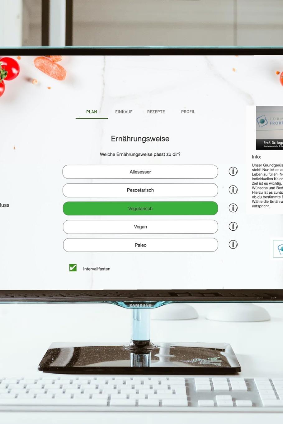 Ernährungs-Software + App für Personal Trainer, Ernährungsberater, Fitness Coaches und Fitnessstudios - Anamnesebogen