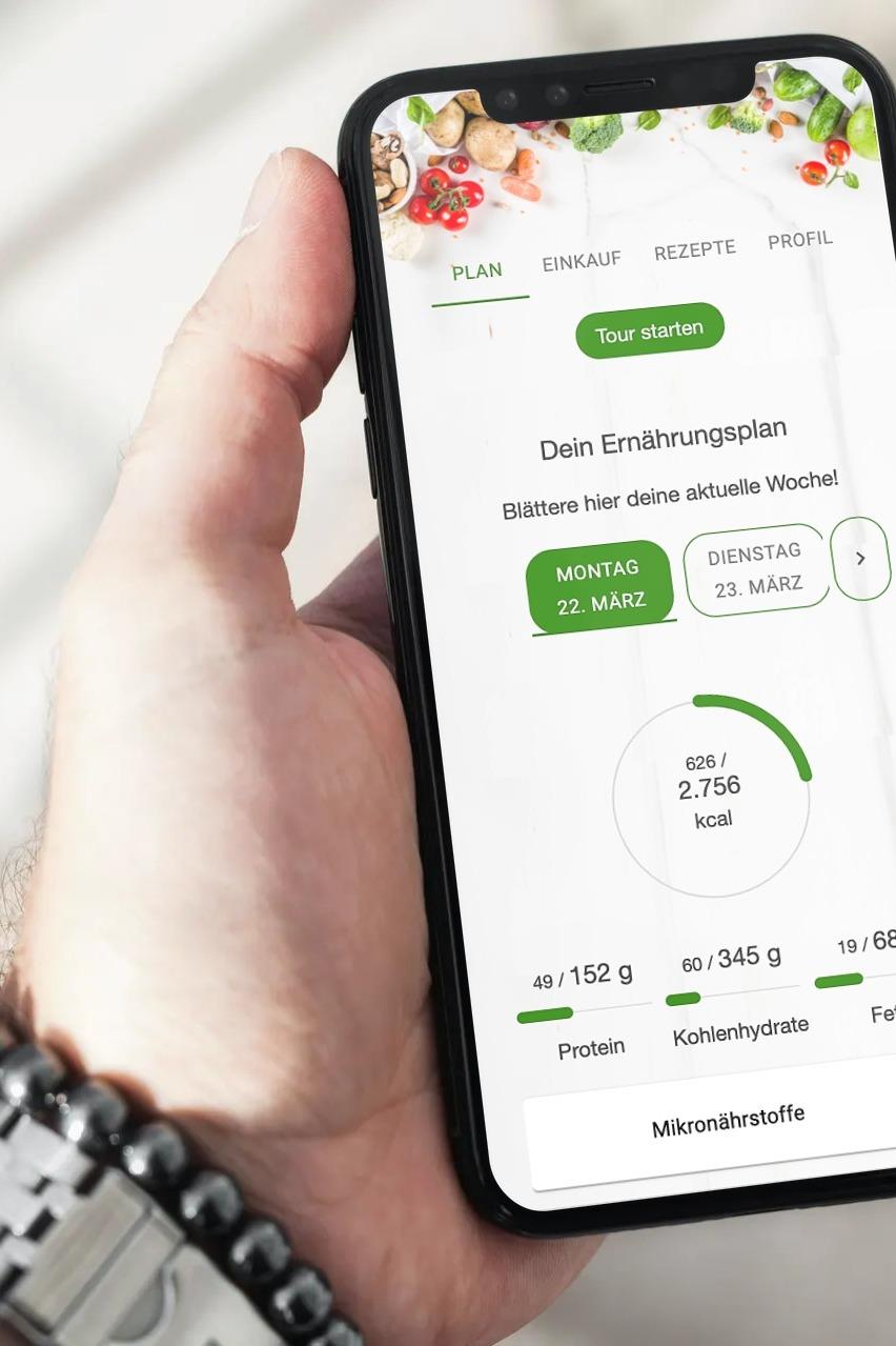 Ernährungs-Software + App für Personal Trainer, Ernährungsberater, Fitness Coaches und Fitnessstudios - Personalisierte Ernährungs-App