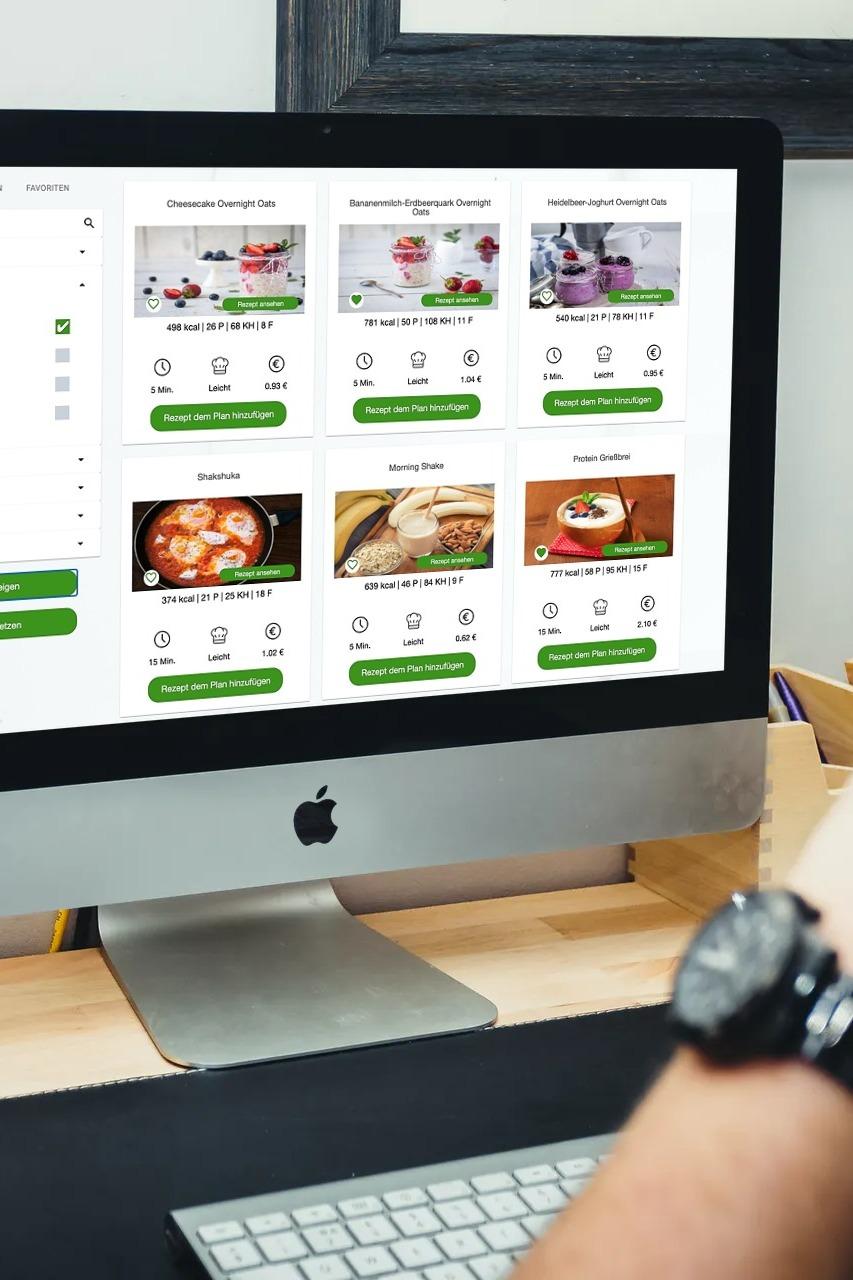 Ernährungs-Software + App für Personal Trainer, Ernährungsberater, Fitness Coaches und Fitnessstudios - Rezeptportal