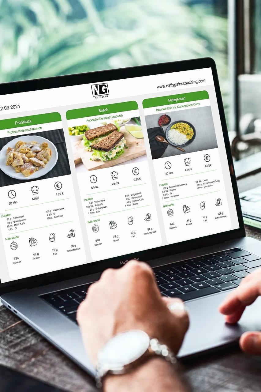 Ernährungs-Software für Personal Trainer, Ernährungsberater und Fitness Coaches - Personalisierte Ernährungspläne