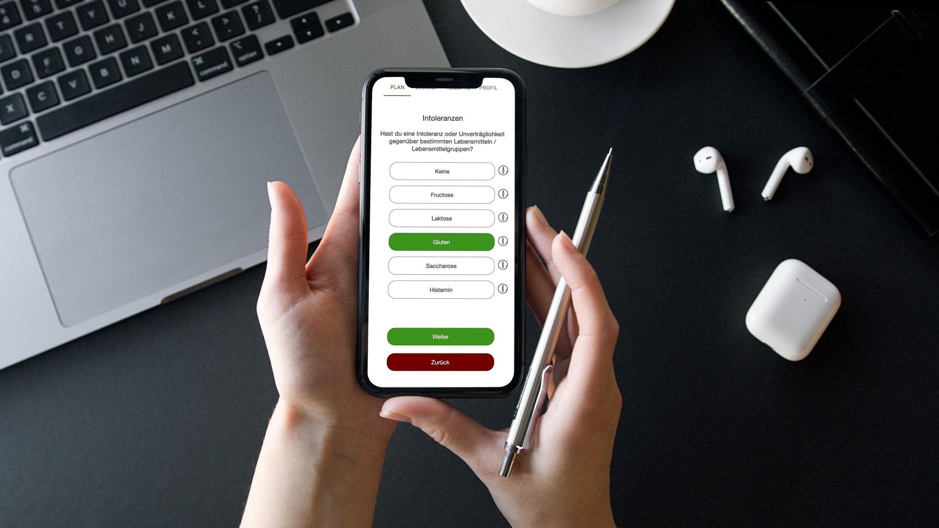 Ernährungsberater Software mit App für Ernährungscoaching - Ernährungspläne, Rezepte, Einkaufslisten - Intoleranzen
