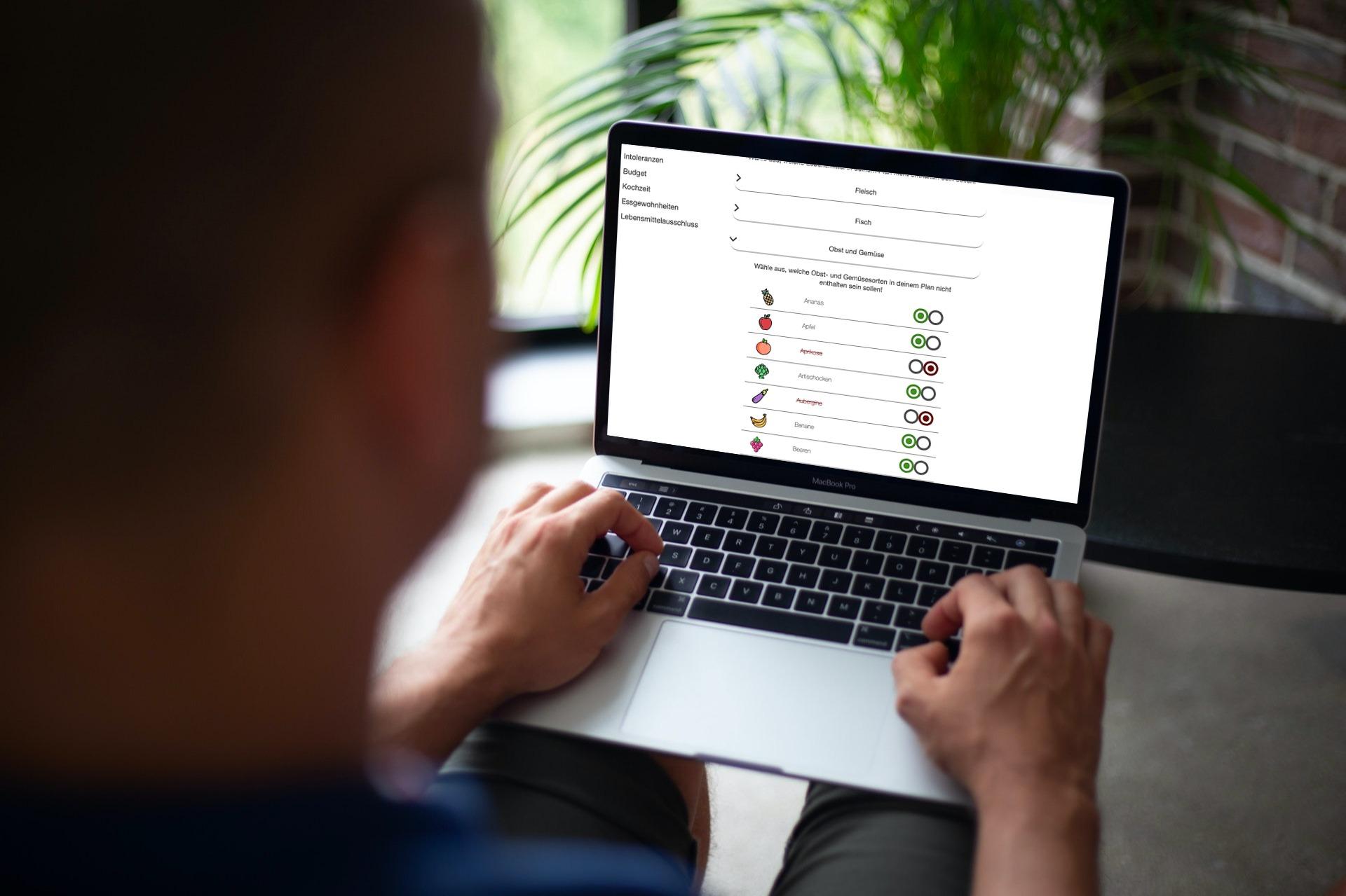 Ernährungsberater Software mit App für Ernährungscoaching - Ernährungspläne, Rezepte, Einkaufslisten - Lebensmittelausschluss