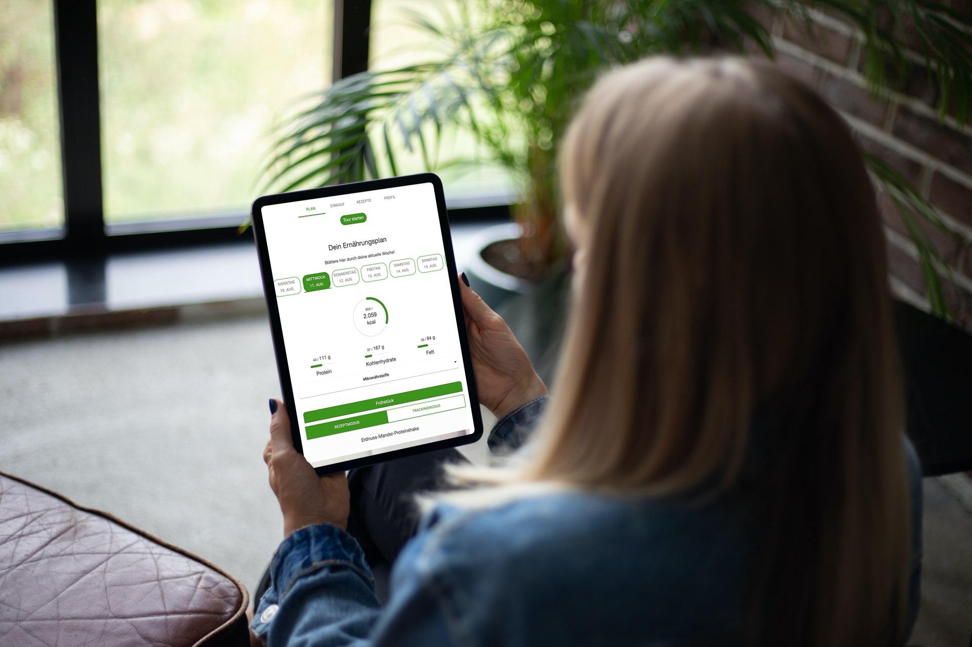 Ernährungsberater Software mit App für Ernährungscoaching - Ernährungspläne, Rezepte, Einkaufslisten - Plan ansehen