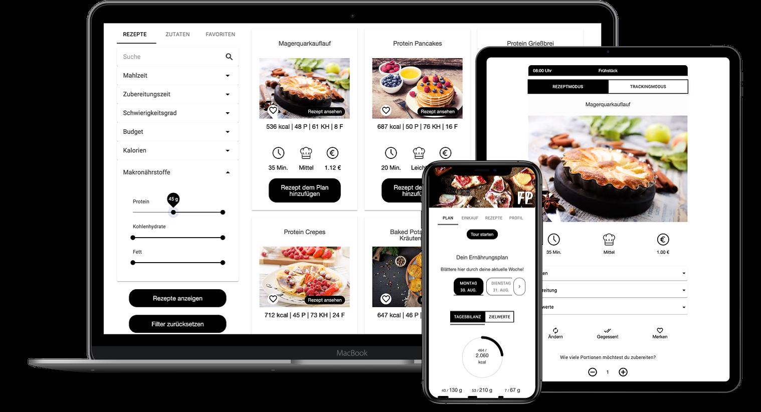 Erfahrungen zur Natty Gains Ernährungssoftware + Ernährungs-App von Personal Trainern, Ernährungsberatern, Gesundheitscoaches - Mockups von Chris Schorpp (Fitness Private Bodensee)