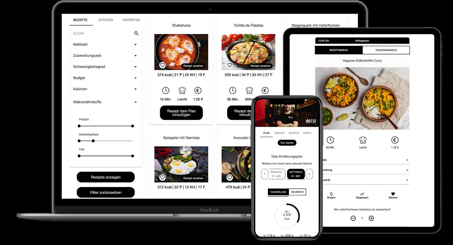 Erfahrungen zur Natty Gains Ernährungssoftware + Ernährungs-App von Personal Trainern, Ernährungsberatern, Gesundheitscoaches - Mockups von Marven Wauer