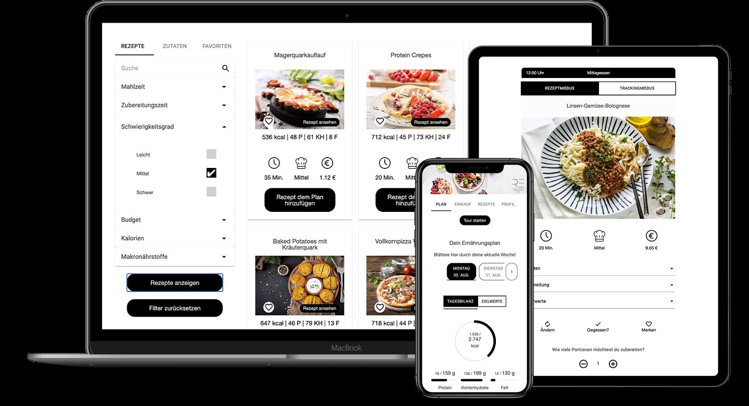 Erfahrungen zur Natty Gains Ernährungssoftware + Ernährungs-App von Personal Trainern, Ernährungsberatern, Gesundheitscoaches - Mockups von Robert Esser aus Dorsten