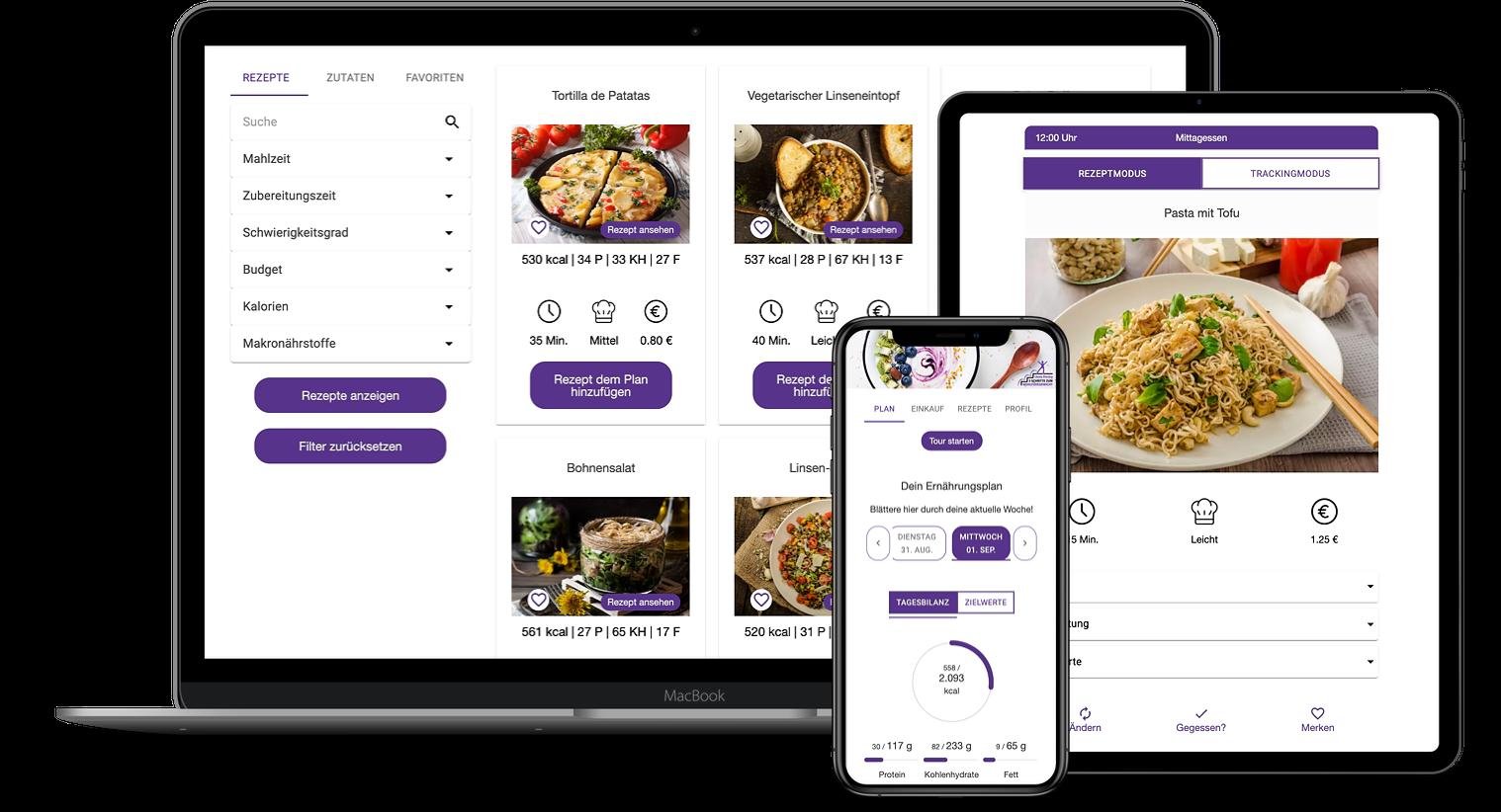 Erfahrungen zur Natty Gains Ernährungssoftware + Ernährungs-App von Personal Trainern, Ernährungsberatern, Gesundheitscoaches - Mockups von Simone Benzing aus Langenselbold