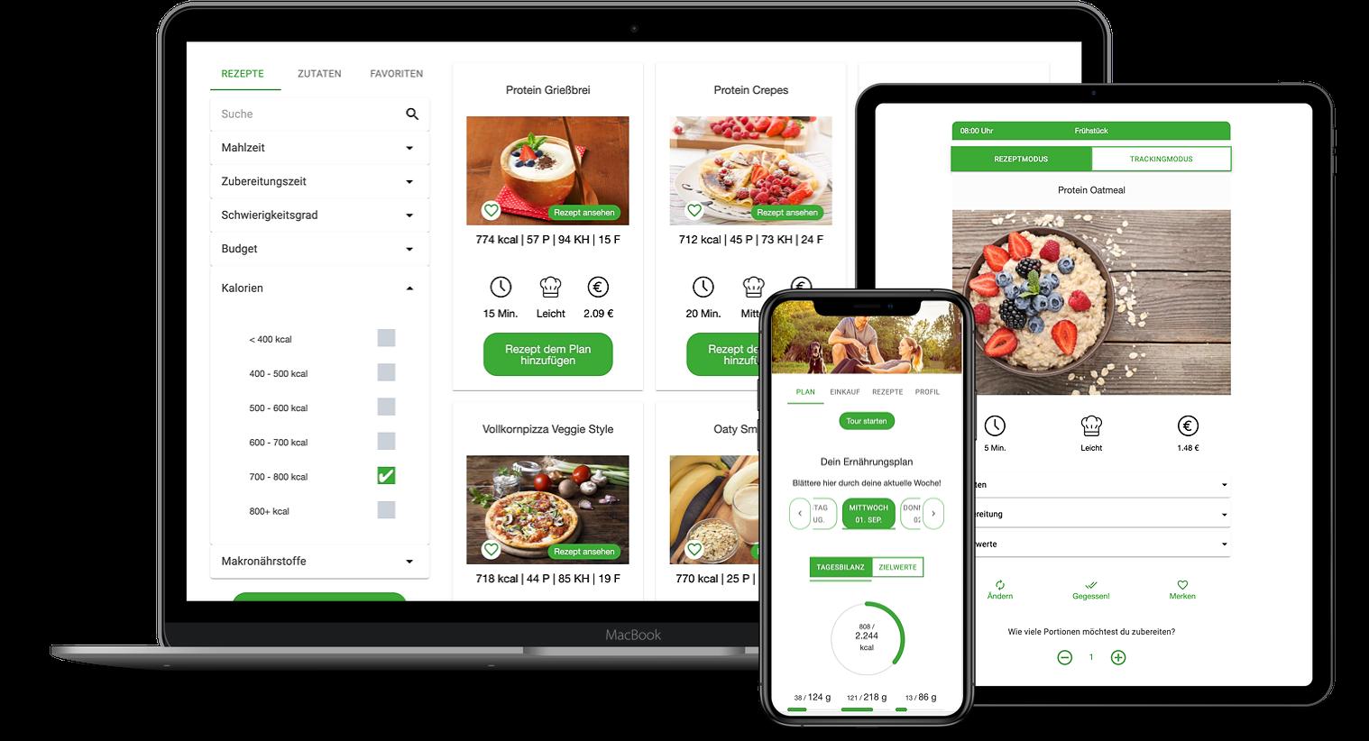 Erfahrungen zur Natty Gains Ernährungssoftware + Ernährungs-App von Personal Trainern, Ernährungsberatern, Gesundheitscoaches - Mockups von Tobias Lindstädt aus Magdeburg
