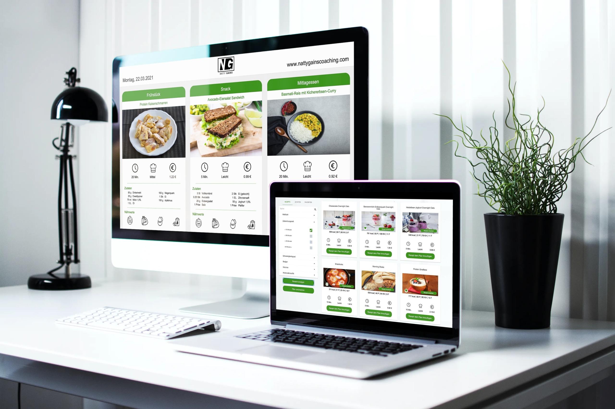 Ernährungssoftware für Online Fitness Coaches - Ernährungscoaching mit eigener Ernährungs-App